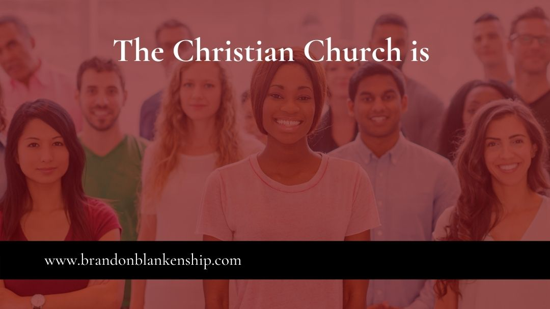 Church members smiling