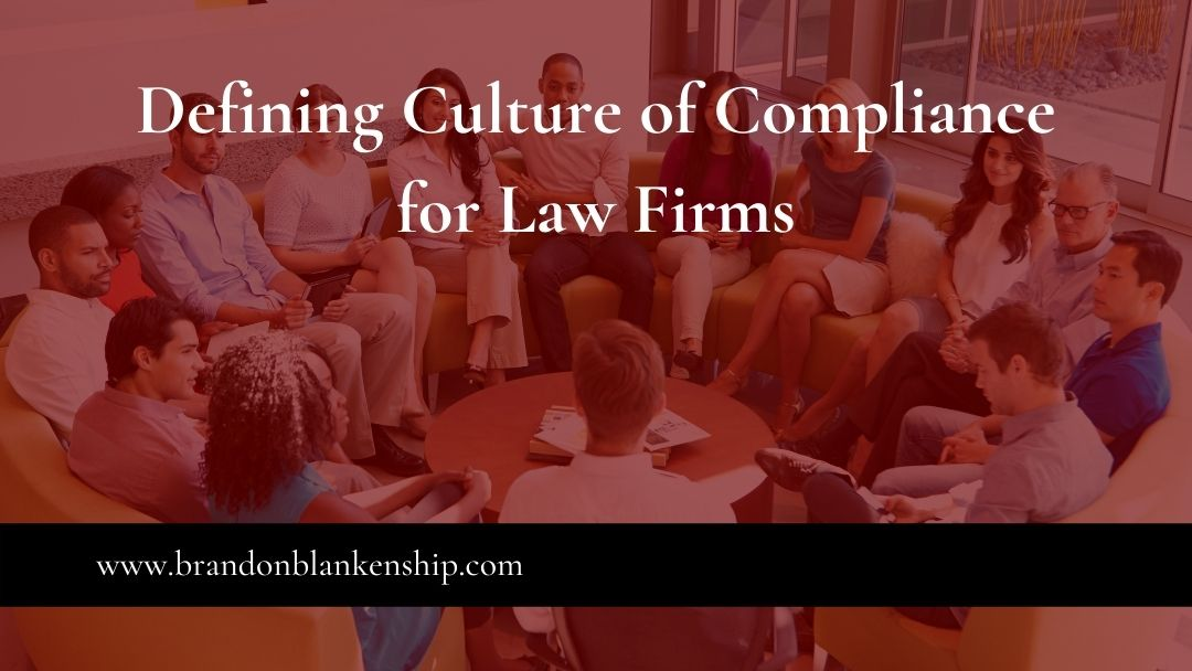 Law firm employee group compliance meeting