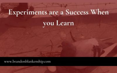 Experiments are a Success When You Learn