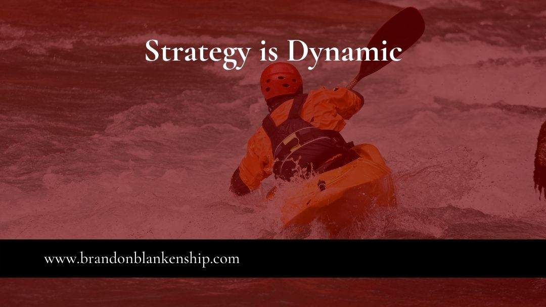 Kayaker strategy is dynamic