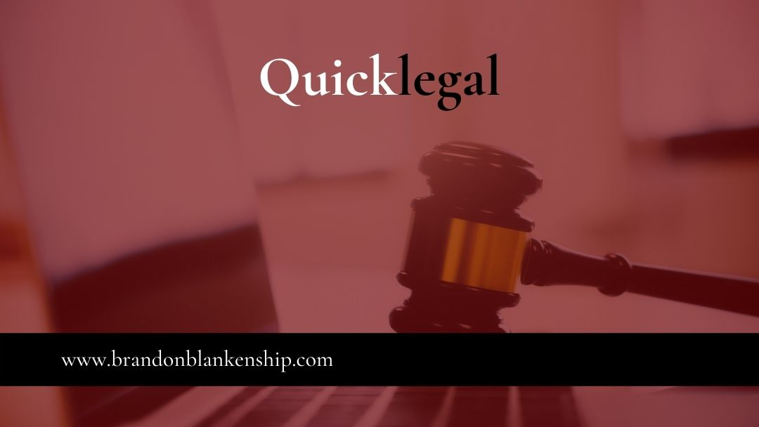 Gavel on computer is quicklegal